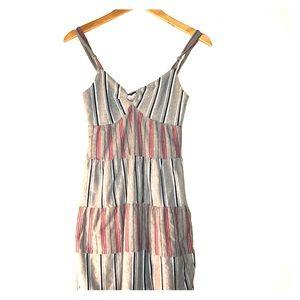 Stussy gray striped dress size small